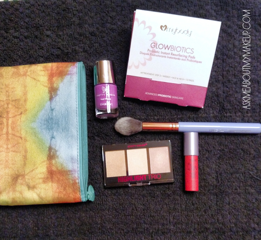 Ipsy sends everything in a cute bag each month!