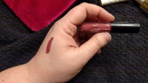 dries down to a matte finish more quickly on the lips
